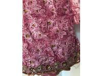 Indian Bollywood pink net saree