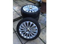 FORD FIESTA TITANIUM ALLOY WHEELS AND TYRES