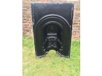 Victorian fireplace insert - cast iron