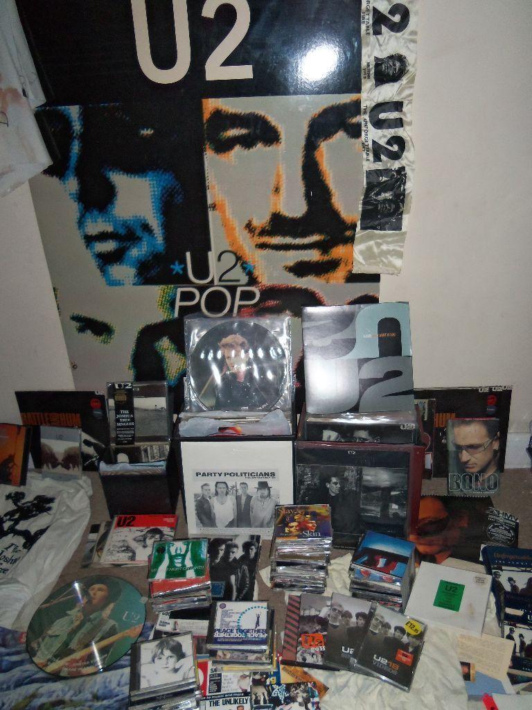 Large U2 Collection Vinyl 12 Quot 7 Quot Cd S Books Dvd S Posters