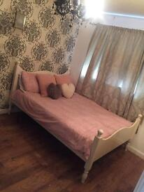 Double shabby chic bed frame