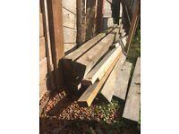 100x75mm 2.4m Fence Posts x5