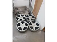 STUNNING 18 INCH AZEV ALLOY WHEELS FORD 5 x 112 SUIT FOCUS RS ST ETC
