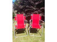 Pair of Genuine Vintage Aerolite Garden Chairs