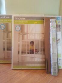 Two extenden Lindam safety gates