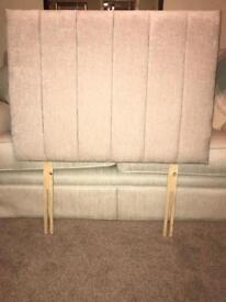 Deluxe headboard - cream/beige - immaculate condition