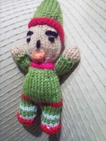 Elfin the toy elf. Safety stuffed. Reduced