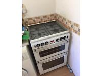 Gas cooker white