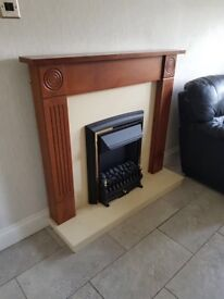 Be Comet electric fire surround and hearth immaculate condition