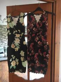2 dresses with scalloped hem