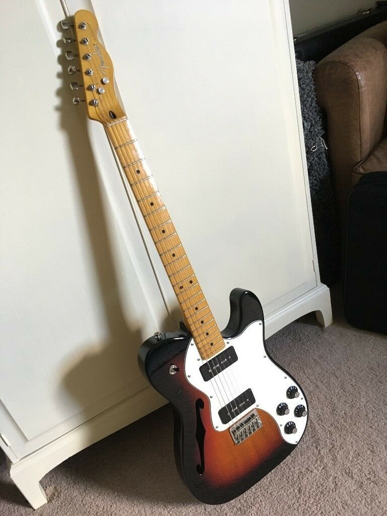 fender modern player telecaster thinline deluxe 3 colour sunburst in dungiven county. Black Bedroom Furniture Sets. Home Design Ideas