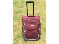 Small burgundy Azure fabric suitcase holiday
