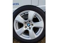 x4 Bmw alloy wheels Winter tyres (7 1/2J x 17) with 225/50/R17 tyres