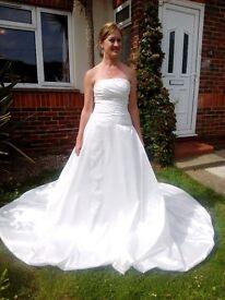 Silk Ivory Wedding Dress Full Gown