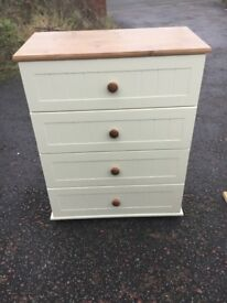Like new cream pine chest for drawers
