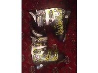 Fischer Ranger 12 Vacuum 2015 ski boots - UK 7.5 / Mondo 26.5 - custom fit shell