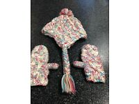 Next Girls Hat and Gloves Set Age 7-10 Years EXCELLENT CONDITION
