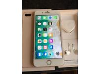 Iphone 8 plus 64gb complete with box and unused accessories rose gold unlocked