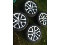 "VW SCIROCCO 17"" ALLOY WHEELS -Ronal donnnington"