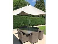 Large Rattan Table 8 seater