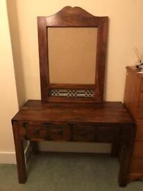 Dressing table & Chair, Mirror and 2 bedside tables