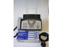 Brother fax machine T104 - with spare ribbons - good condition
