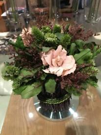 Vase with flower set variety available