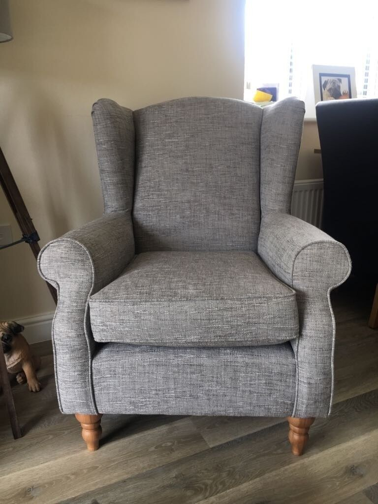 Next Sherlock Armchair Boucle Weave Light Dove Foot Pack Less Than A Year Old In Heanor Derbyshire Gumtree