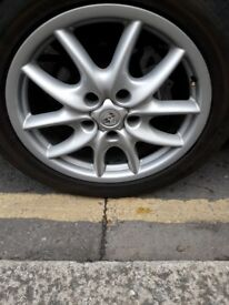 "Genuine Porsche Cayenne 4x 19"" Alloy Wheels with tyres"
