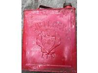 Petrol fuel jerry tin can shell mex ltd vintage