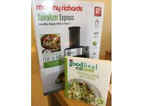 Morph Richards Spiralizer and Recipe Book. Brand new in box.