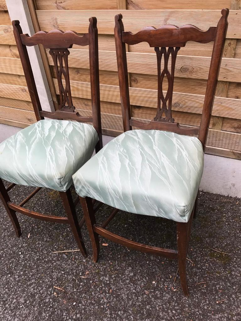 antique mahogany bedroom chairs. antique mahogany chairs, would make fantastic bedroom chairs perfect for re-covering