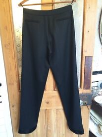 VINTAGE WOMEN'S GUCCI TROUSERS. BLACK SIZE 38. AS SEEN IN MADONNA'S RAY OF LIGHT