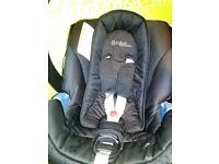 Cybex aton car seat with rain cover
