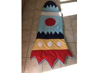 NEXT rocket sleeping bag - 3-6 years with pillow