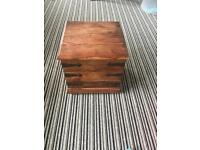 Solid wooden storage chest