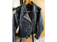 Excellent condition ladies geniune leather motorbike jacket size S