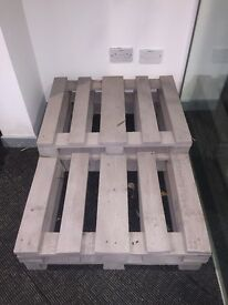 Pallets - painted in soft mushroom.