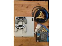 Used White 500gb PS4. 3 games