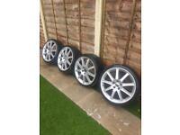 19 inch 5x112 alloy wheels ( vw Audi )