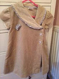 "Beige velvet dress age 3 by ""Pom Pom"""