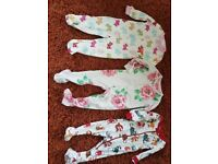 12x Designers BabyGirl 9-12 Months Sleepsuits/Babygrows/Playsuits Joules,Hatley
