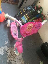 Girls barbie scooter
