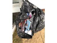 Black bag of dvds