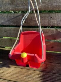 Plastic small child/baby swing (garden/outdoor)