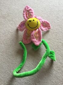 Bendy long stem Smiley flower toy