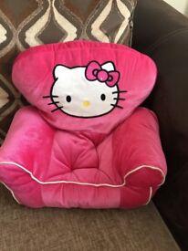 Build A Bear - Hello Kitty Pink Velvet Arm Chair