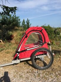 Halfords single bike trailer