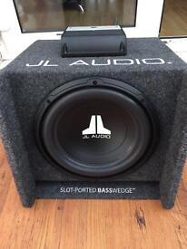 "J L audio 12"" sub and amp"
