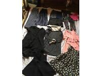 Ladies Shorts And Skirts. Leggings. Dresses. Bundle size 6/ 13 items Used v.good condition £20